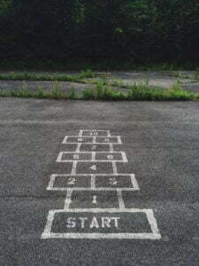 photo for Getting Started article displaying hopscotch kids game