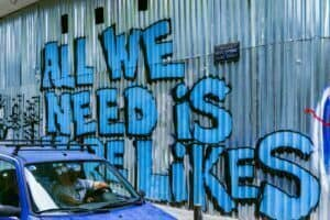 photo for Likes Are Now a Currency article displaying graffiti on wall