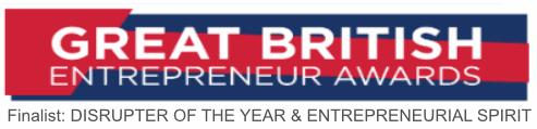 great british entrepreneur awards finalist disrupter of the year & entrepreneurial spirit popcorn