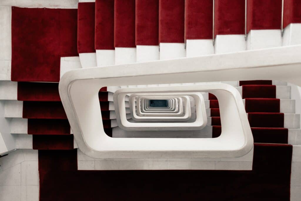 topdown image of stairs for the article types of loyalty programme