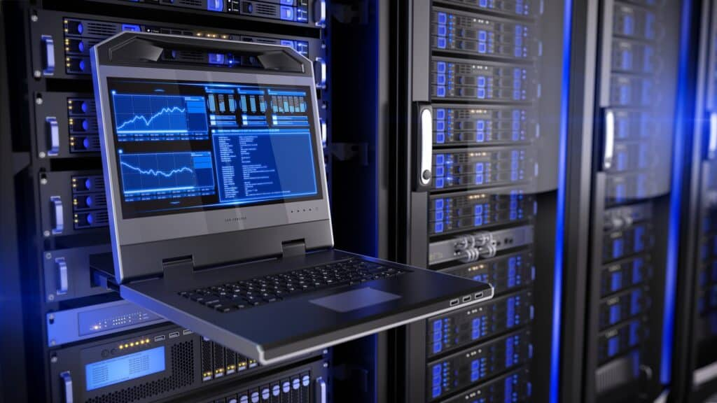 web hosting servers, data centre in data room for improving email rates article